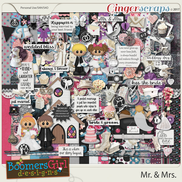 Mr. & Mrs. by BoomersGirl Designs
