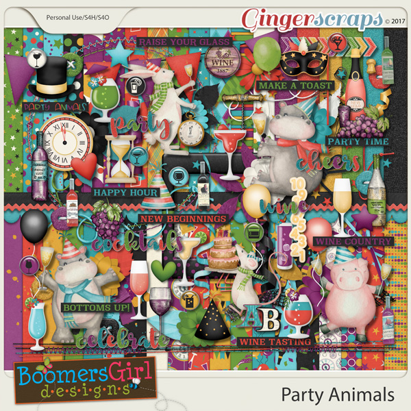 Party Animals by BoomersGirl Designs
