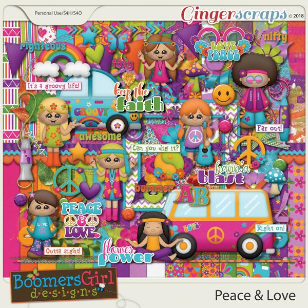 Peace & Love by BoomersGirl Designs