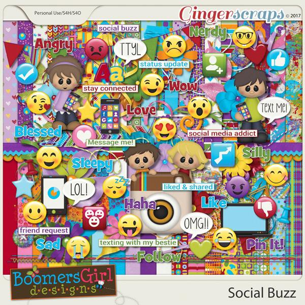 Social Buzz by BoomersGirl Designs