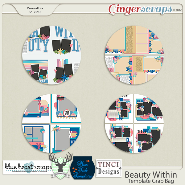 Beauty Within Template Collab with Dear Friends Designs, Blue Heart Scraps, Miss Fish Designs, and Tinci Designs
