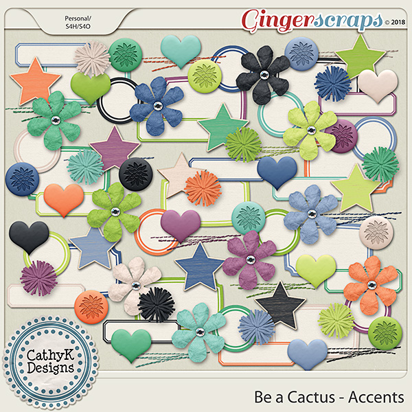 Be a Cactus - Accents by CathyK Designs