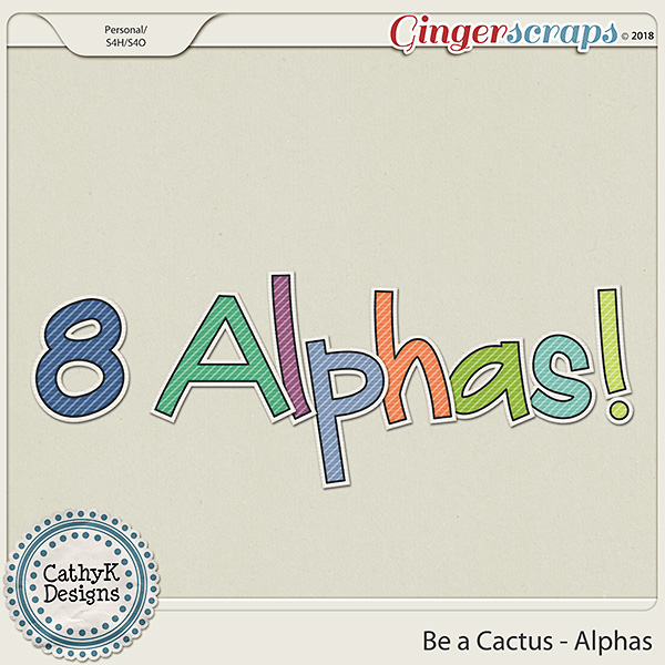 Be a Cactus - Alphas by CathyK Designs