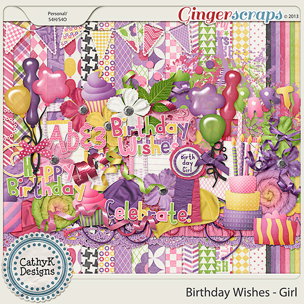 Birthday Wishes - Girl Kit