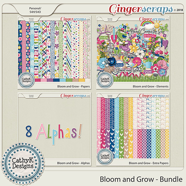 Bloom and Grow - Bundle by CathyK Designs