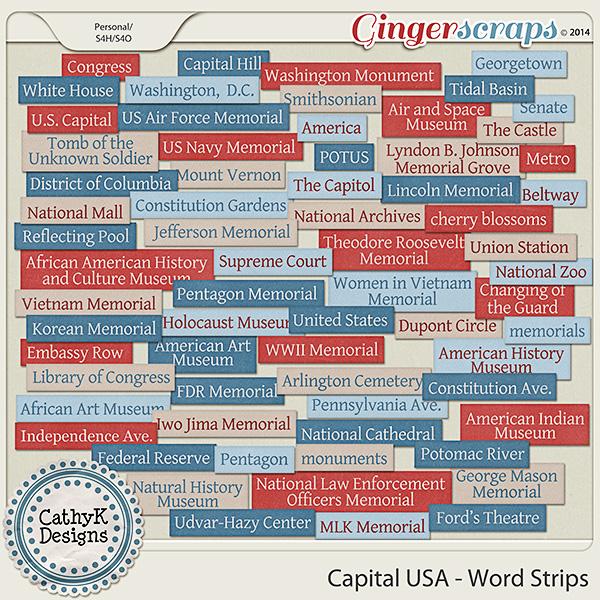 Capital USA - Word Strips