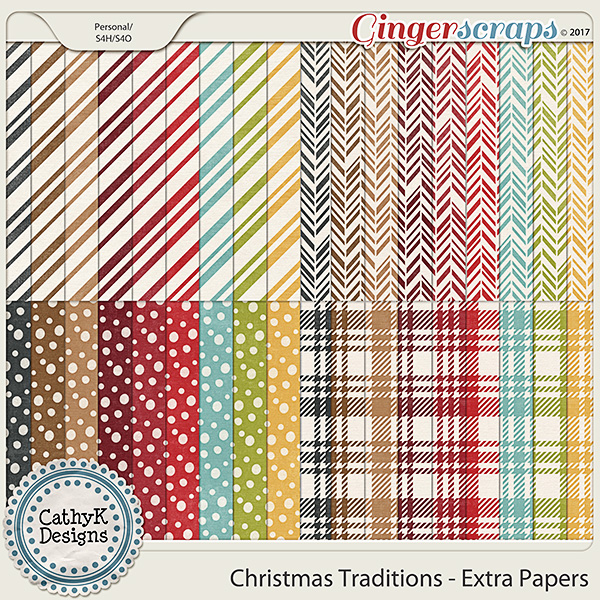 Christmas Traditions - Extra Papers