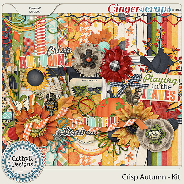 Crisp Autumn Kit: by CathyK Designs