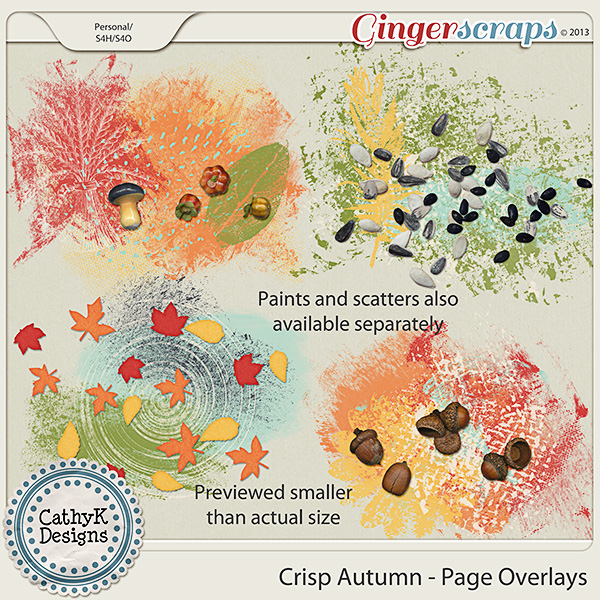 Crisp Autumn Page Overlays: by CathyK Designs