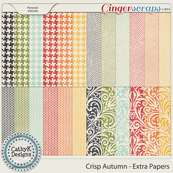 Crisp Autumn Extra Papers: by CathyK Designs