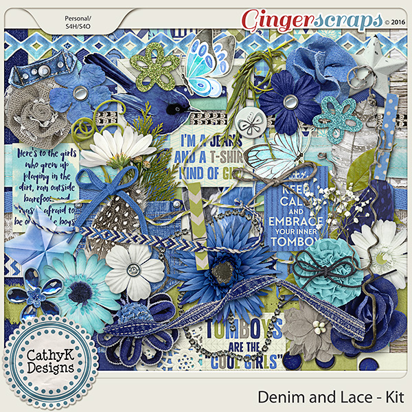 Denim and Lace - Kit