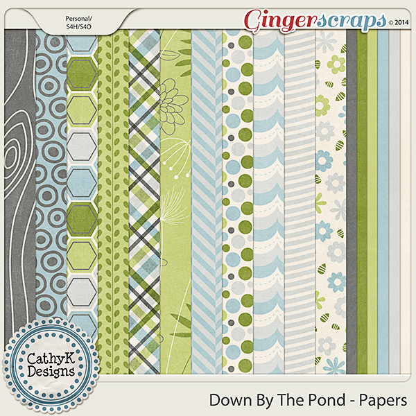 Down By The Pond Papers by CathyK Designs