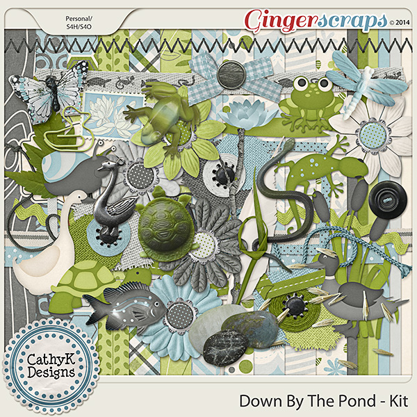 Down By The Pond Kit by CathyK Designs