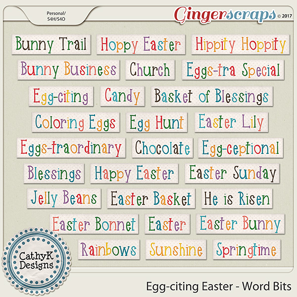 Egg-citing Easter - Word bits