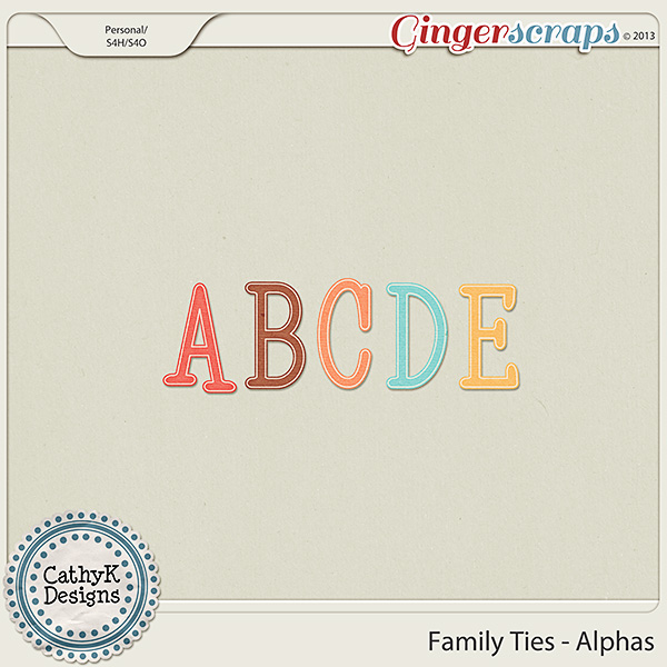 Family Ties Alphas: by CathyK Designs