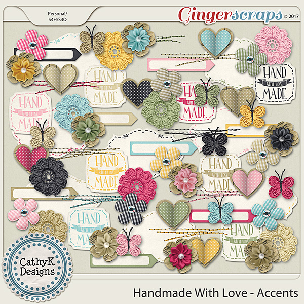 Handmade with Love - Accents
