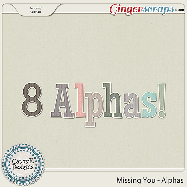 Missing You - Alphas by CathyK Designs