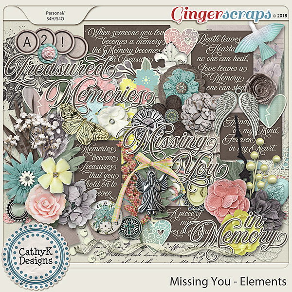 Missing You - Elements by CathyK Designs
