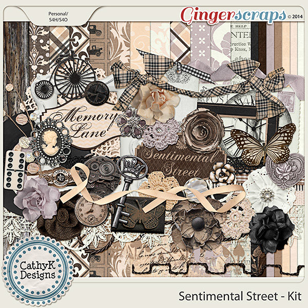 Sentimental Street Kit: by CathyK Designs
