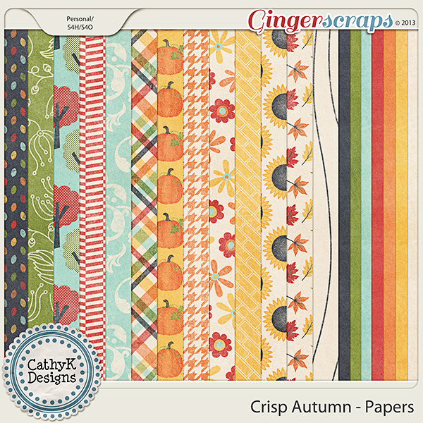 Crisp Autumn Papers: by CathyK Designs
