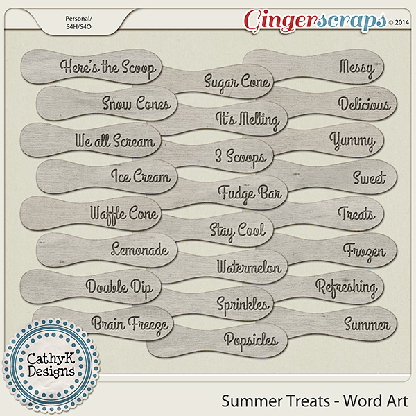 Summer Treats - Word Art