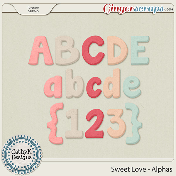 Sweet Love Alphas: by CathyK Designs