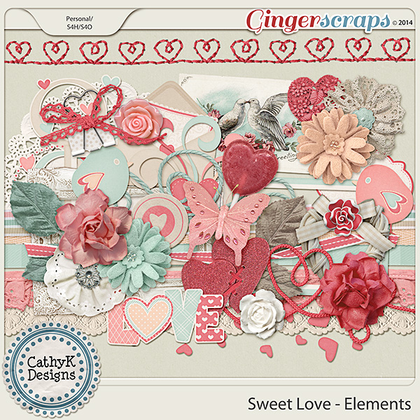Sweet Love Elements: by CathyK Designs