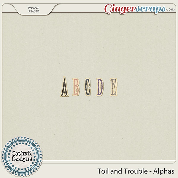 Toil and Trouble Alphas: by CathyK Designs