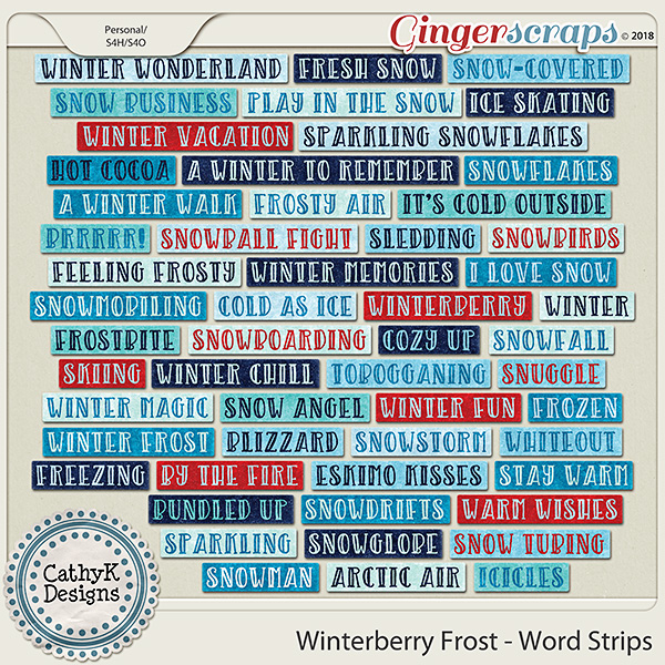 Winterberry Frost - Word Strips