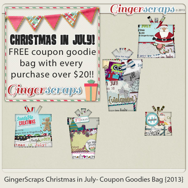 GingerScraps Christmas in July- Coupon Goodies Bag {2013}