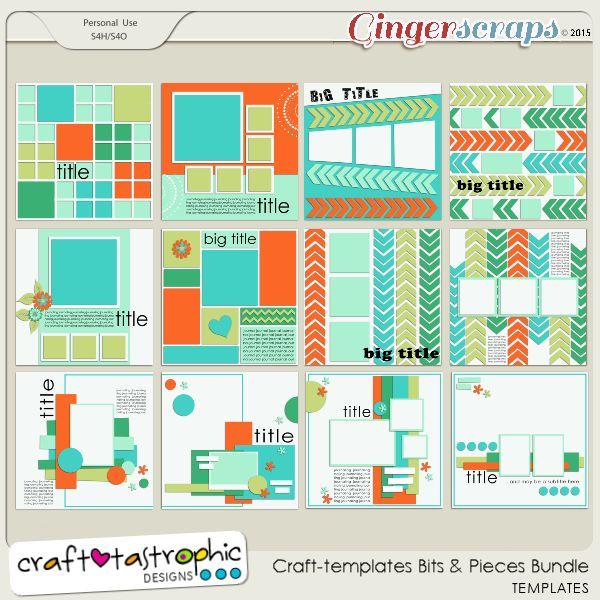 gingerscraps bundled goodies craft templates bits