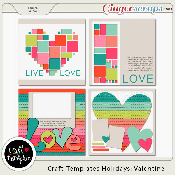 Craft-Templates Holidays Valentine 1