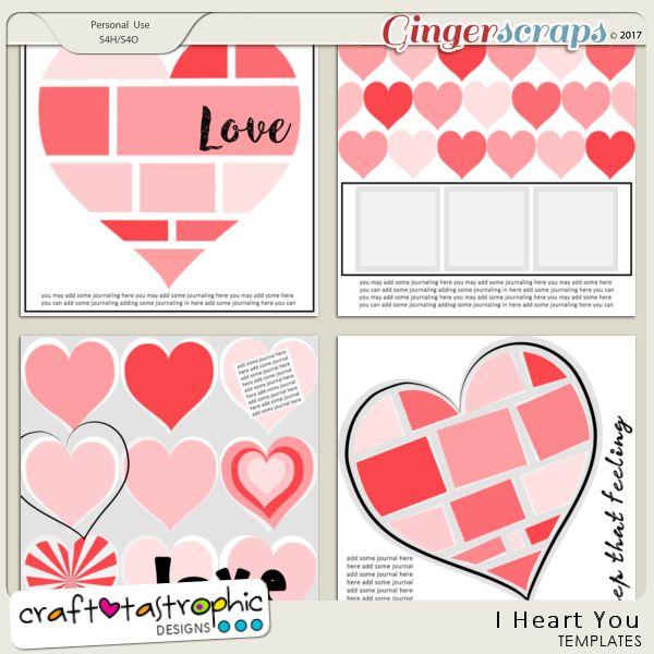Craft-Templates I Heart You