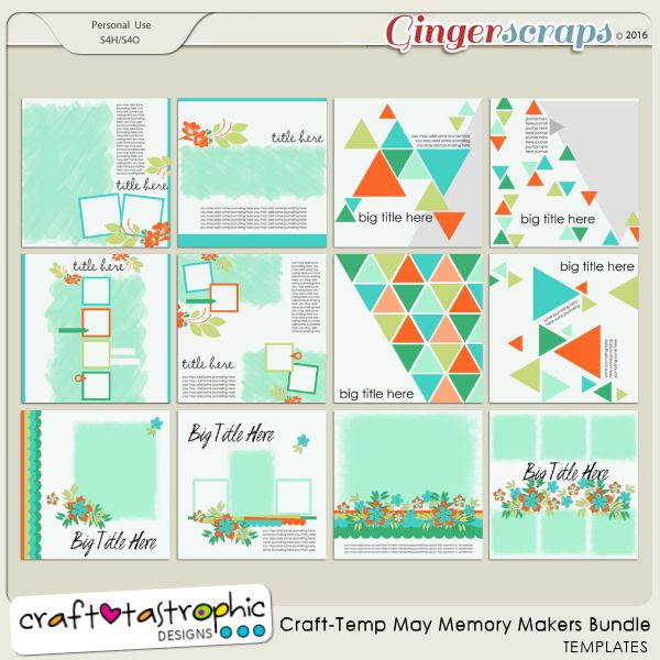 Craft-Templates May Memory Makers BUNDLE