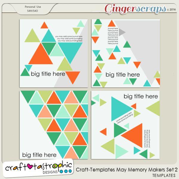 Craft-Templates May Memory Makers Set 2