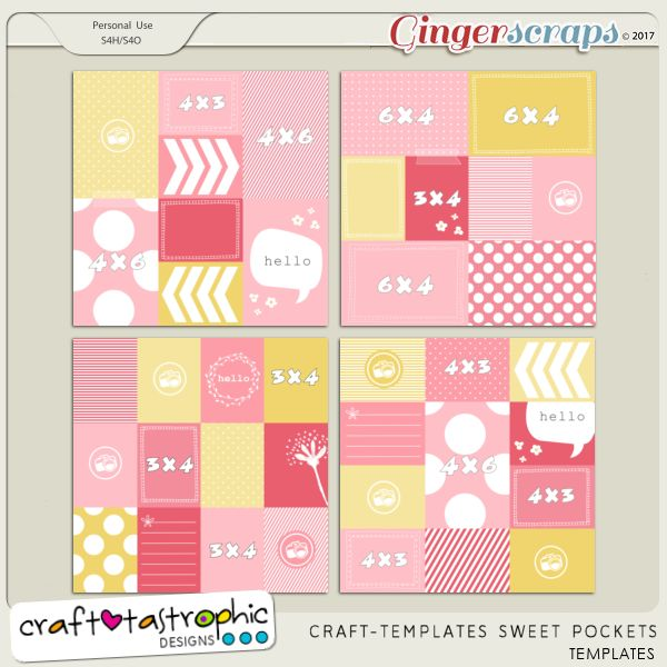 Craft-Templates Sweet Pockets