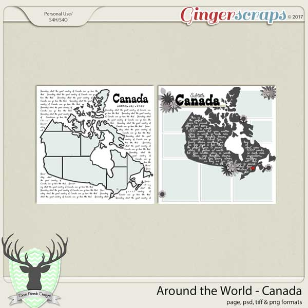 Around the World Countries: Canada Templates by Dear Friends Designs