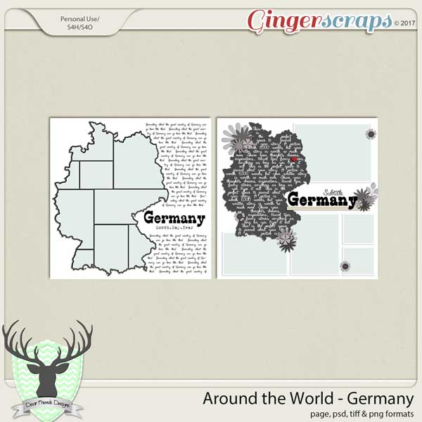 Around the World Countries: Germany Templates by Dear Friends Designs