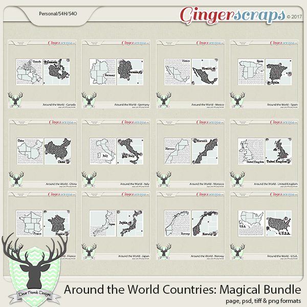 Around the World Countries: Magical Bundle by Dear Friends Designs