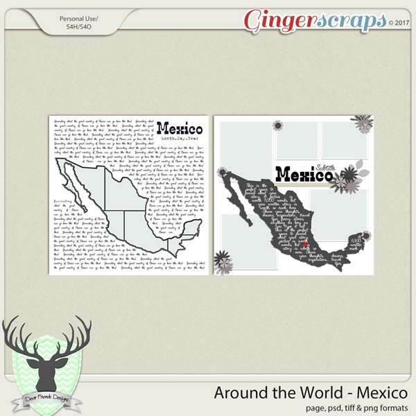 Around the World Countries: Mexico Templates by Dear Friends Designs