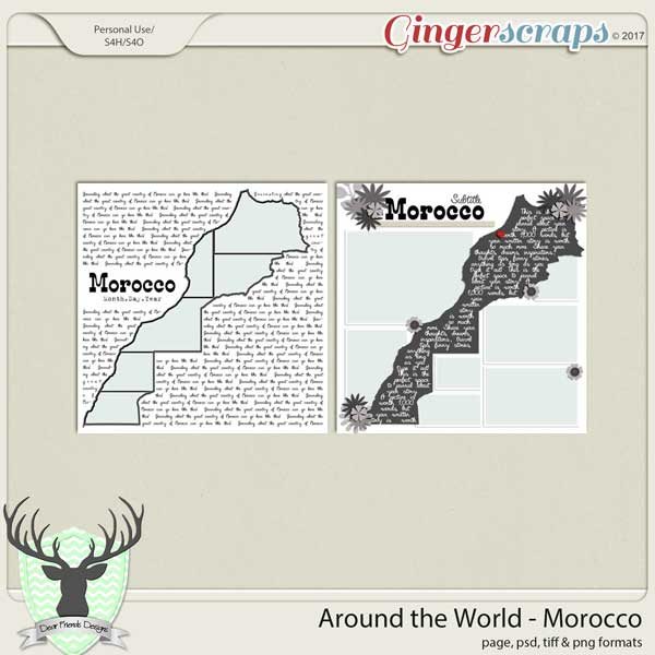 Around the World Countries: Morocco Templates by Dear Friends Designs