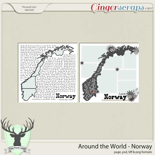 Around the World Countries: Norway Templates by Dear Friends Designs