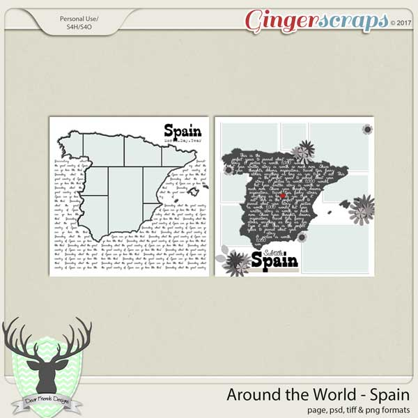 Around the World Countries: Spain Templates by Dear Friends Designs