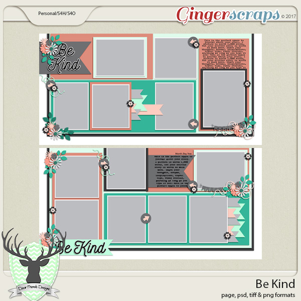Be Kind Templates by Dear Friends Designs
