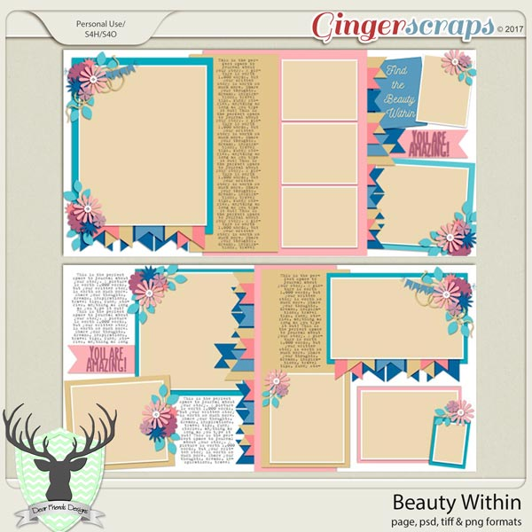 Beauty Within Templates by Dear Friends Designs