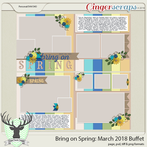 Bring on Spring Templates by Dear Friends Designs