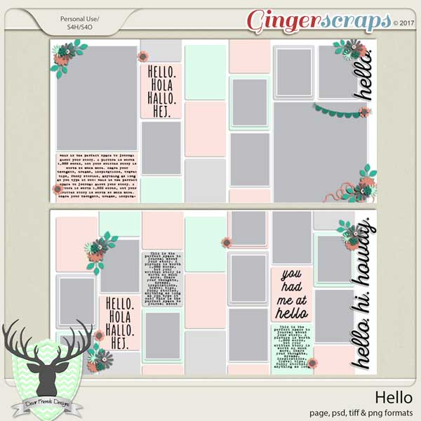 Hello Templates by Dear Friends Designs