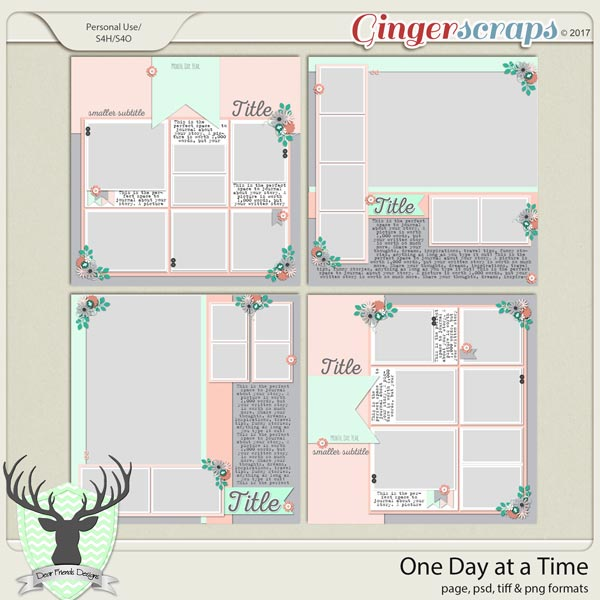 One Day at a Time by Dear Friends Designs