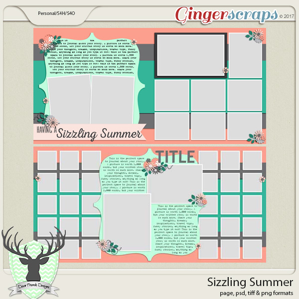 Sizzling Summer Templates by Dear Friends Designs