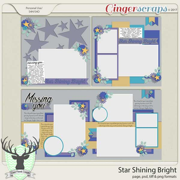 Star Shining Bright Templates by Dear Friends Designs